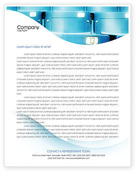 Seat Letterhead Template, 02266, Business Concepts — PoweredTemplate.com