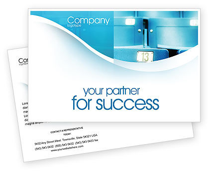 Business Concepts: Seat Postcard Template #02266