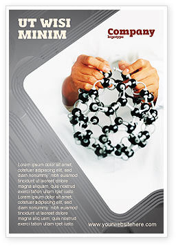 Technology, Science & Computers: Creation Of Fullerene Molecule Model Ad Template #02267