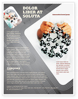 Technology, Science & Computers: Creation Of Fullerene Molecule Model Flyer Template #02267