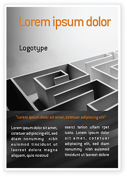 Business Concepts: Gray Labyrinth Ad Template #02270