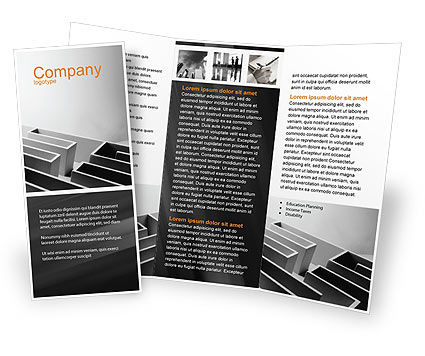 Gray Labyrinth Brochure Template, 02270, Business Concepts — PoweredTemplate.com
