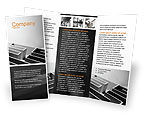 Business Concepts: Gray Labyrinth Brochure Template #02270