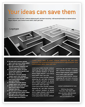 Business Concepts: Gray Labyrinth Flyer Template #02270