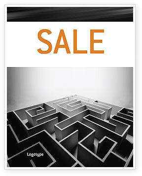 Business Concepts: Gray Labyrinth Sale Poster Template #02270