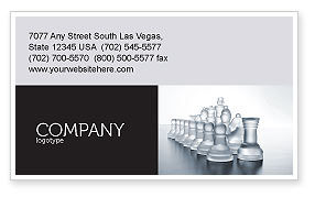 Business: Chess Troops Ready To Fight Business Card Template #02273