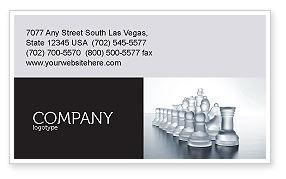 Business: 명함 템플릿 - 체스 군대 싸울 준비 #02273