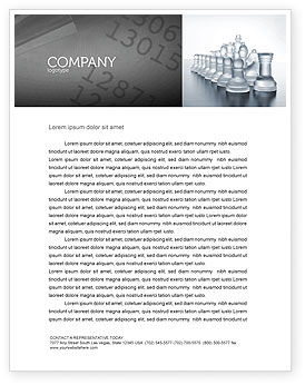 Business: Chess Troops Ready To Fight Letterhead Template #02273
