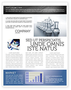 Chess Troops Ready To Fight Newsletter Template, 02273, Business — PoweredTemplate.com