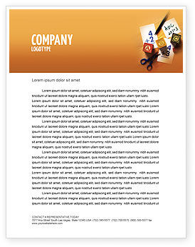 Addition Letterhead Template, 02278, Education & Training — PoweredTemplate.com