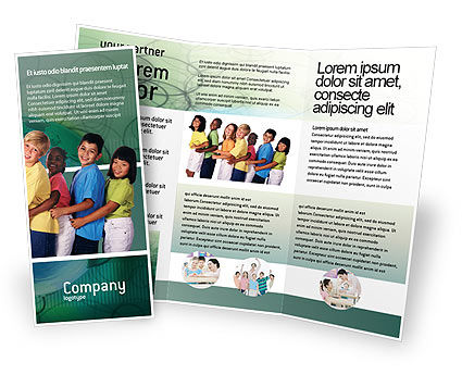 Children Of The World Brochure Template, 02279, People — PoweredTemplate.com