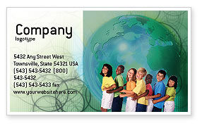 People: Children Of The World Business Card Template #02279