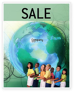 People: Children Of The World Sale Poster Template #02279