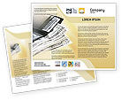 Financial/Accounting: Dollars Brochure Template #02283