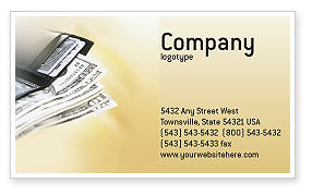 Financial/Accounting: Dollars Business Card Template #02283