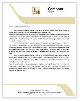 Dollars Letterhead Template, 02283, Financial/Accounting — PoweredTemplate.com