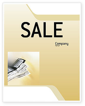 Dollars Sale Poster Template, 02283, Financial/Accounting — PoweredTemplate.com
