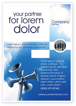 Loudspeaker Ad Template, 02285, Business Concepts — PoweredTemplate.com