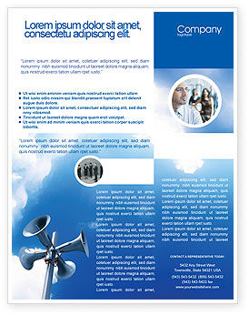 Business Concepts: Templat Flyer Pengeras Suara #02285