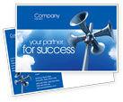 Business Concepts: 拡声器 - はがきテンプレート #02285