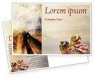 Art & Entertainment: Palette Postcard Template #02287