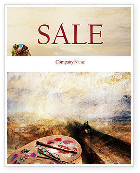 Art & Entertainment: Palette Sale Poster Template #02287