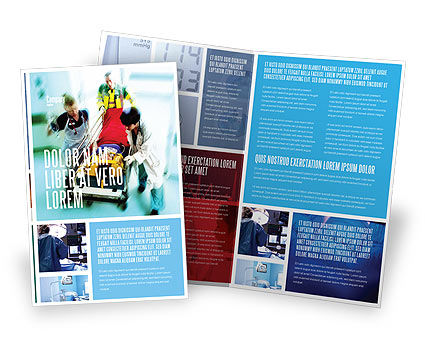 Reanimation Brochure Template, 02288, Medical — PoweredTemplate.com