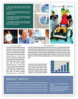 Medical: Reanimation Newsletter Template #02288