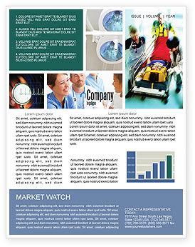 Reanimation Newsletter Template, 02288, Medical — PoweredTemplate.com