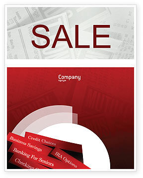 Business Concepts: Savings and Credits Sale Poster Template #02289
