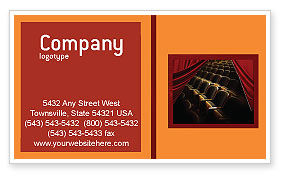 Art & Entertainment: Cinema Hall Business Card Template #02291