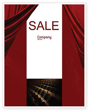 Art & Entertainment: Cinema Hall Sale Poster Template #02291