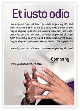 Hands Ad Template, 02292, Consulting — PoweredTemplate.com