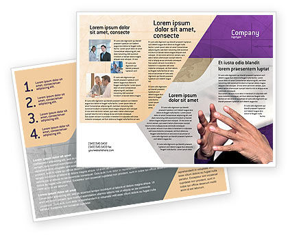 Consulting: Hands Brochure Template #02292
