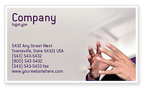 Consulting: Hands Business Card Template #02292