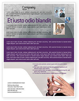Consulting: Hands Flyer Template #02292