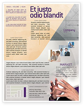Hands Newsletter Template, 02292, Consulting — PoweredTemplate.com