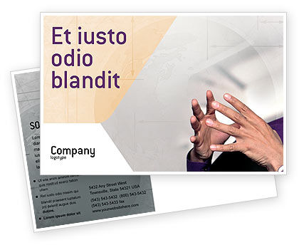 Hands Postcard Template, 02292, Consulting — PoweredTemplate.com
