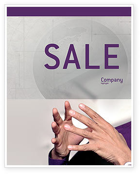 Hands Sale Poster Template, 02292, Consulting — PoweredTemplate.com