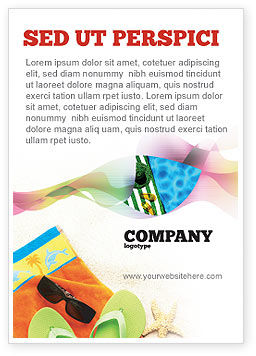 Careers/Industry: Beach Accessories Ad Template #02293