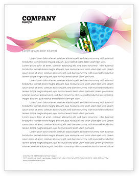 Beach Accessories Letterhead Template, 02293, Careers/Industry — PoweredTemplate.com