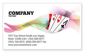 Careers/Industry: Playing Cards Business Card Template #02295