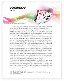 Playing Cards Letterhead Template, 02295, Careers/Industry — PoweredTemplate.com