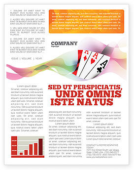 Playing Cards Newsletter Template, 02295, Careers/Industry — PoweredTemplate.com