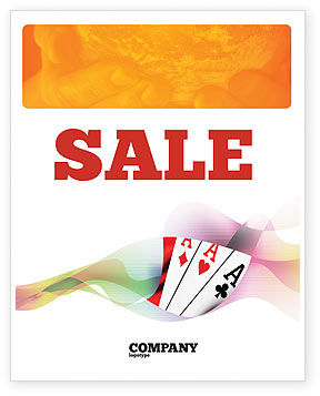 Careers/Industry: Playing Cards Sale Poster Template #02295