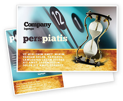 Passing Time Postcard Template, 02296, Consulting — PoweredTemplate.com