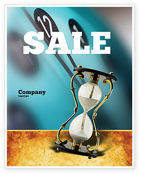 Passing Time Sale Poster Template, 02296, Consulting — PoweredTemplate.com