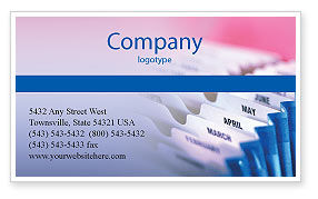 Months Business Card Template, 02297, Business — PoweredTemplate.com