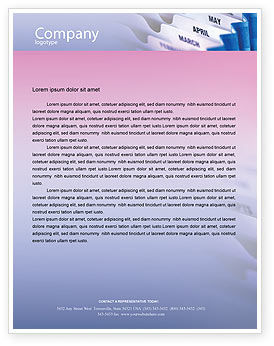 Business: Months Letterhead Template #02297