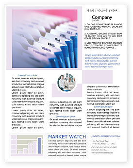 Business: Months Newsletter Template #02297